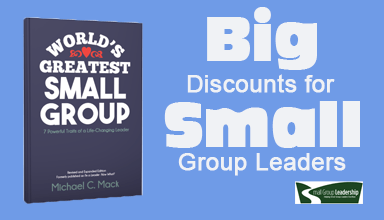 Big Discounts for Small Group Leaders