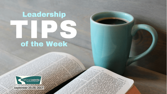 Leadership TIPS of the Week - Sept. 25-29, 2017