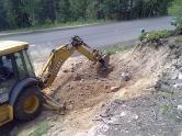 Making room for the culvert extension