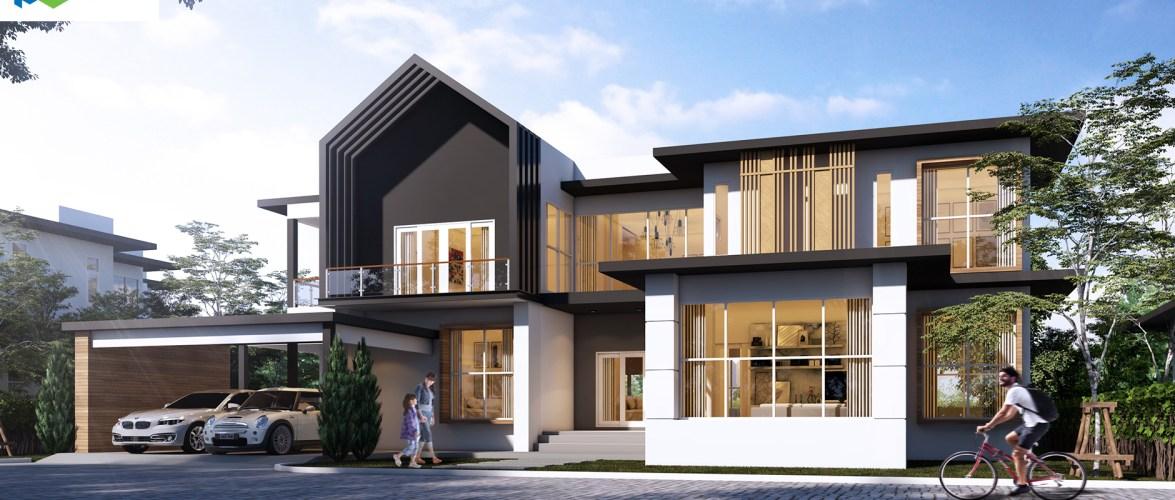 Beautiful House Design Plot 27×22 meters 5 Beds