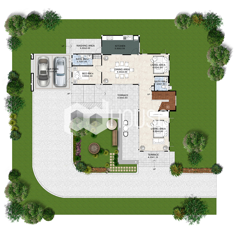 Cool House Plans 316 Square Meters 4 Bedrooms ground floor