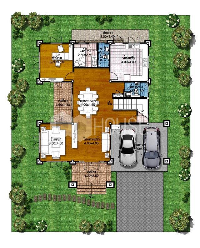 House Plans Idea 18x22 with 4 Bedrooms ground floor