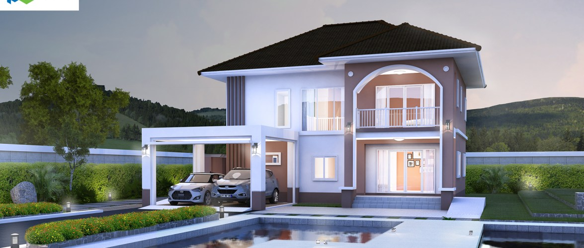 Modern House Design 16×20 with 3 Bedrooms
