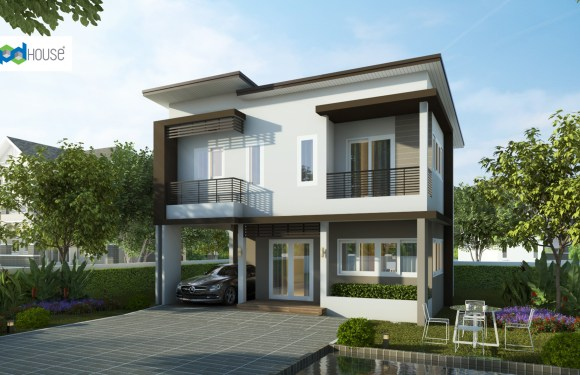 Simple House Design 9×7.5 with 3 Bedrooms