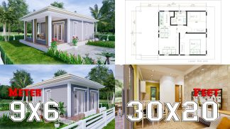 Best Small House Designs 9x6 Meter 30x20 Feet 2 Beds