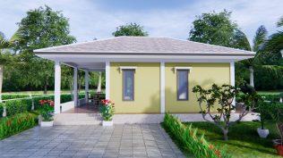 Small Farmhouse Plans 9x6 Meter 30x20 Feet 2 Beds 2
