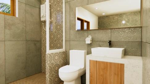 New House Design 12x14 Meter 40x46 Feet 2 Beds Bathroom 2