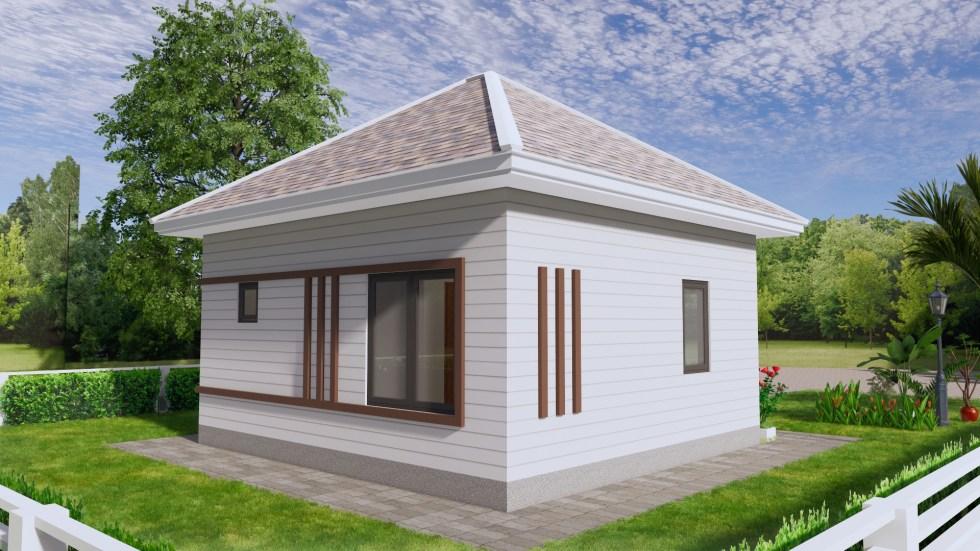 Small Home Design 6.5x6 Meter 22x20 Feet Hip Roof 7
