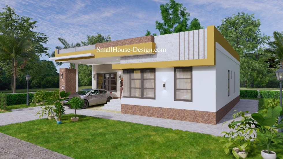 Small House Design with Terrace 12x12 Meter 4