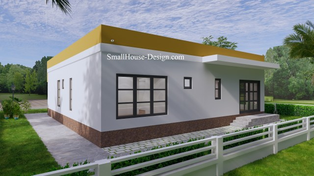 Small House Design with Terrace 12x12 Meter 6