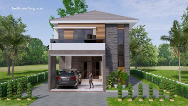 Small House Plan 7.5x11.7 Meter 25x40 Feet 4 Beds 2