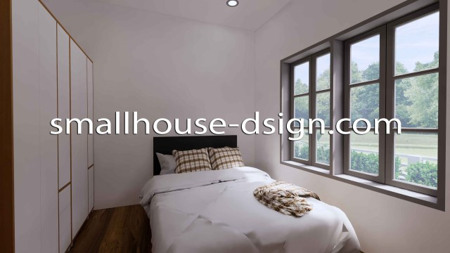 Small House Design 8x9 with 2 Bedrooms Terrace Roof 3D Kid Bedroom