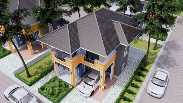 20x31 Small House Plan 3 Bedrooms Hip Roof 6x9.5 M Roof