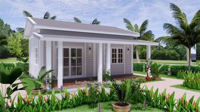 Granny Flat 7x5.2 Meter 1 Bedroom Gable Roof 23x17 Feet 2