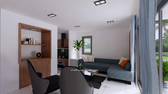 House Idea 6x8.5 PDF Full Plans Interior Living room 1
