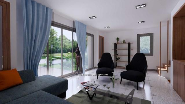 House Idea 6x8.5 PDF Full Plans Interior Living room 3