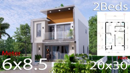 Small House Plan 6x8.5 PDF Full Plans Cover