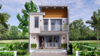 Small House Plan 6x8.5 PDF Full Plans Exterior 3