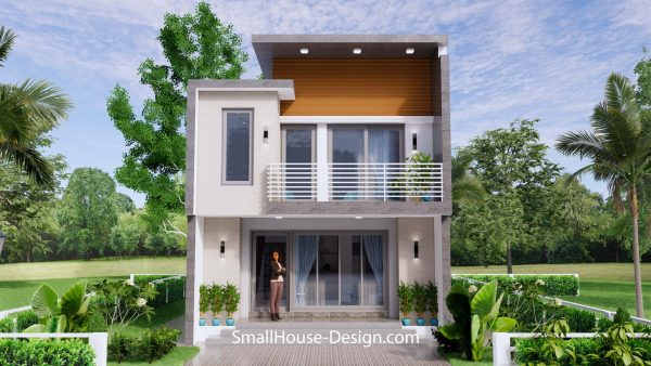 Small House Plan 6x8.5 PDF Full Plans Exterior 3