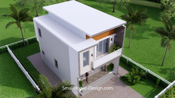 Small House Plan 6x8.5 PDF Full Plans Exterior 5