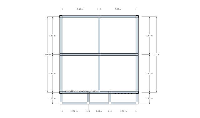 Beam roof plan