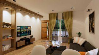 Interior Small House Plan 8x12 M 27x40 Feet 2 Beds PDF Full Plans living room 1