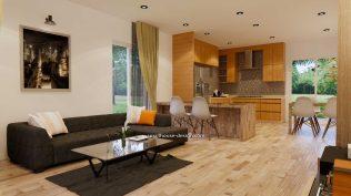 Interior Small House Plan 8x12 M 27x40 Feet 2 Beds PDF Full Plans living room 2