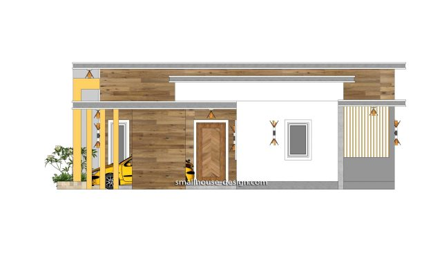 12x11 Small House Plan 3 Bedrooms 40x36 Feet Flat Roof 2 Right