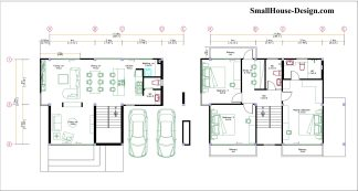 Small House Plan 11.8x7.5 meters 3 Beds 39x25 Feet Full PDF Plan Layout plan