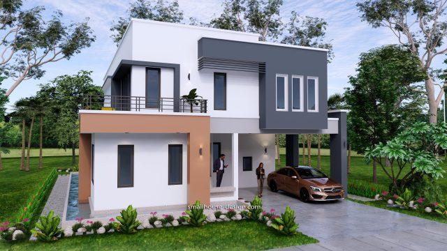 Small House Plan 11x15 M 36x49 Feet 5 Beds Full Plan 3d 1