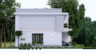Small House Plan 12x11 m 40x36 Feet 4 Beds Pdf Full Plan elevation left