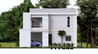 Small House Plan 12x11 m 40x36 Feet 4 Beds Pdf Full Plan elevation right