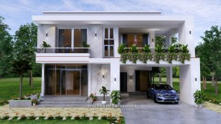 Small House Plan 12x11 m 40x36 Feet 4 Beds Pdf Full Plan front view 1
