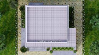 Small House Plan 12x11 m 40x36 Feet 4 Beds Pdf Full Plan terrace roof