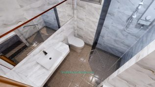 Small House Plan 4x7 M 13x23 Feet 2 Beds PDF Plan 3d master bathroom