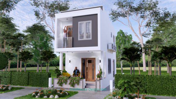 Small House Plan 4x7 M 13x23 Feet 2 Beds PDF Plan