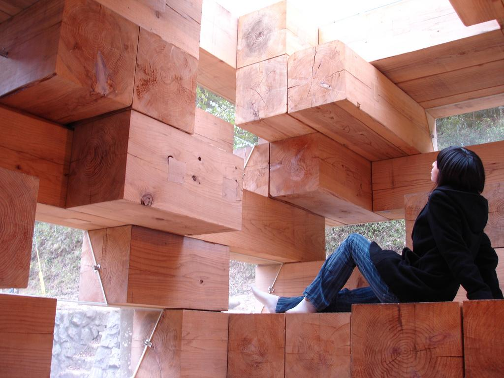 wooden corner chair chair- bar stool cushion weekend fun: final house | sou fujimoto small bliss
