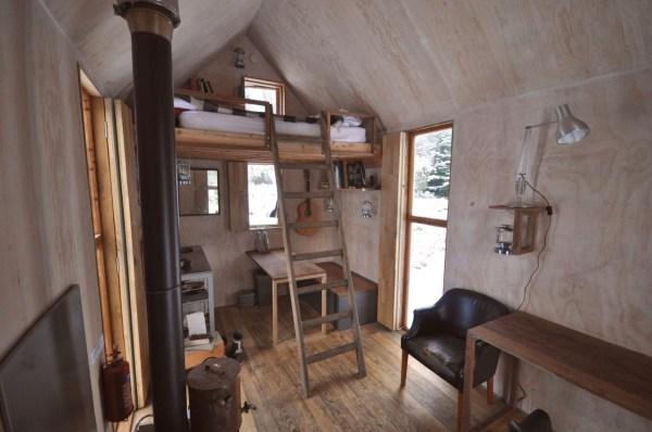 Tiny House Interior Art Studio