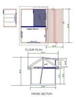 Floor plan of the Gambier Island Tiny Getaway Cabin
