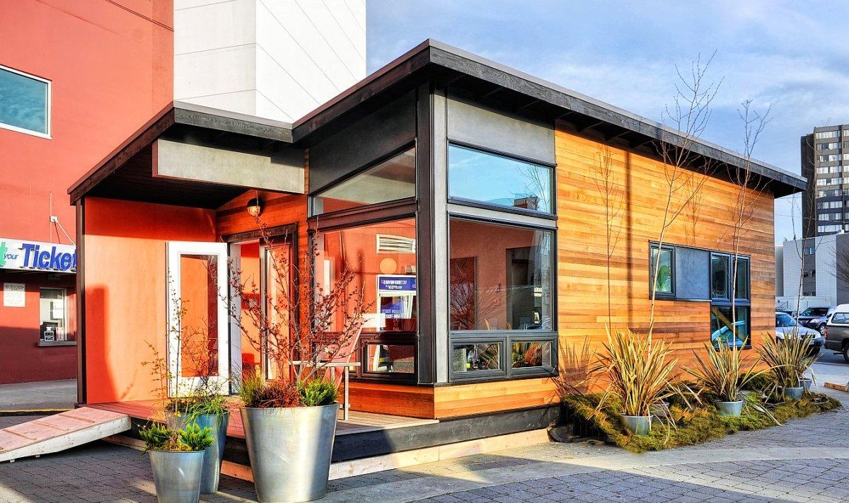Studio37, A Modern Prefab Cottage  Small Modern Living