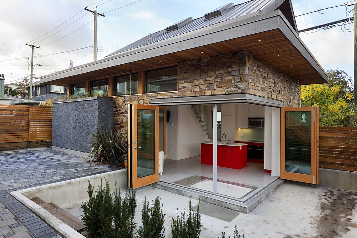 Best Kitchen Gallery: An Energy Efficient Contemporary Laneway House By Lanefab Small of Small Energy Efficient House Designs on rachelxblog.com