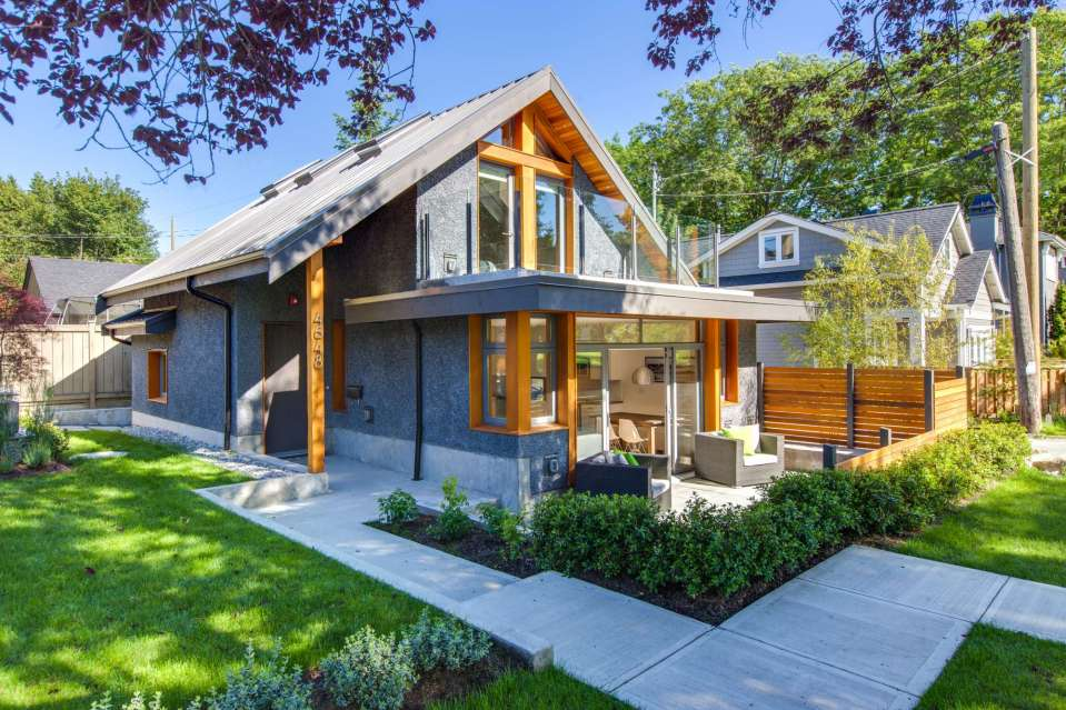 With 2 bedrooms in 800 sq ft this energy efficient laneway house is a