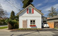 This charming laneway cottage has two bedrooms in 675 sq ft.   www.facebook.com/SmallHouseBliss