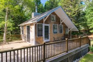 This tiny cottage on Cape Cod was once used as a children's playhouse before being converted into a studio dwelling with 348 sq ft. | www.facebook.com/SmallHouseBliss