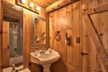 Small Rustic Log Cabin Bathroom Design Ideas