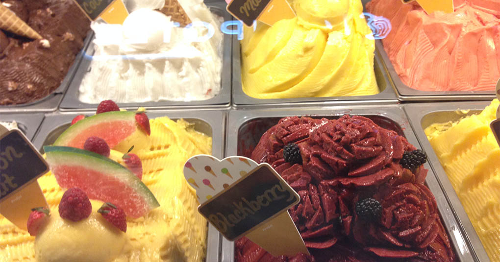 Gelato at the Venetian Las Vegas NV
