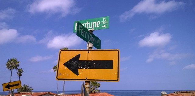 Street Sign  La Jolla CA