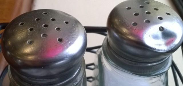 Salt and Pepper Shakers Mezzaluna Caffe