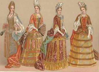 baroque period rococo dress during era clothing history cavalier dresses boroque womens european late 1690 outfits culture 1650 common fashions