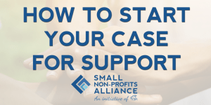 Small Non-Profits Alliance a charity case for support